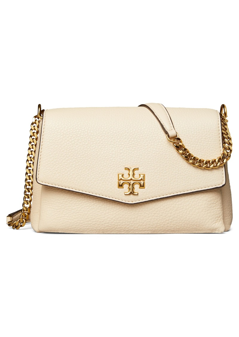 Tory Burch Small Kira Leather Convertible Crossbody Bag in New Cream at Nordstrom