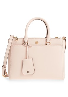 Tory Burch Small Robinson Double-Zip Leather Tote