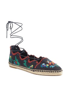Tory Burch Sonoma Embroidered Ghillie Flat (Women)