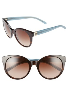 Tory Burch 'Stacked' 54mm Retro Sunglasses