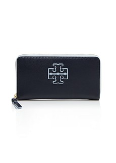 Tory Burch Stacked-T Color Block Zip Continental Wallet