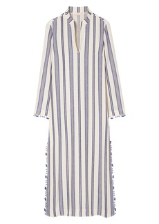 Tory Burch Stephanie Stripe Linen Blend Beach Caftan