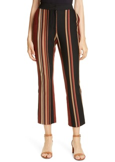 Tory Burch Stripe Button Detail Knit Pants
