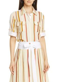 Tory Burch Stripe Cotton Shirt