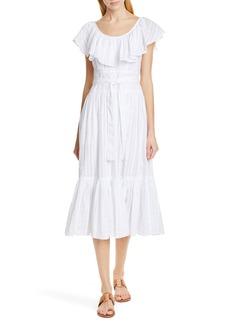 Tory Burch Stripe Seersucker Dress