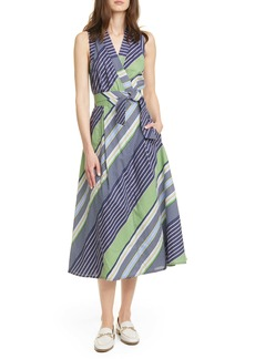 Tory Burch Stripe Wrap Dress