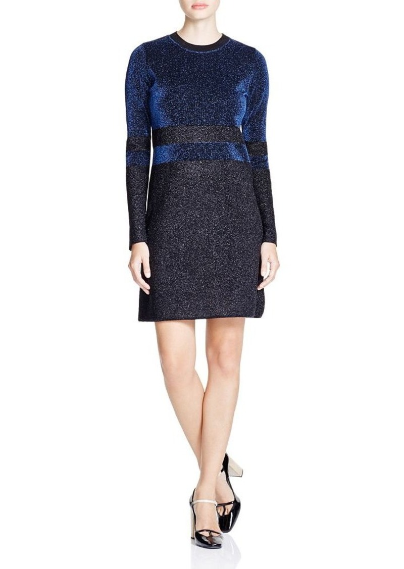 tory burch tory burch striped metallic knit dress dresses shop it to me. Black Bedroom Furniture Sets. Home Design Ideas