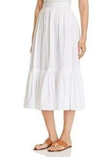 Tory Burch Striped Seersucker Skirt