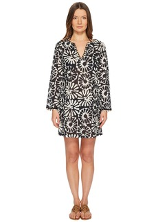 Tory Burch Pomelo Floral Beach Tunic Cover-Up