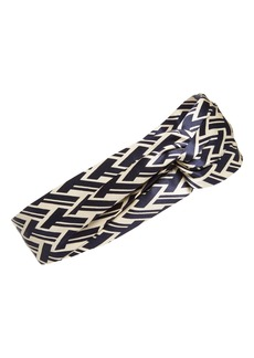 Tory Burch T Lattice Silk Head Wrap