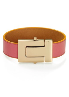 Tory Burch T-Logo Color-Block Leather Bracelet