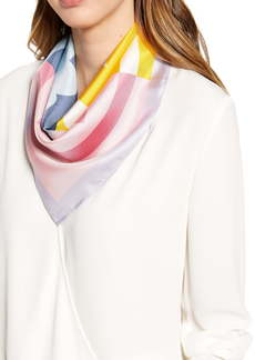 Tory Burch T-Logo Colorblock Silk Scarf