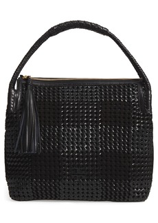 Tory Burch Taylor Woven Leather Hobo Bag