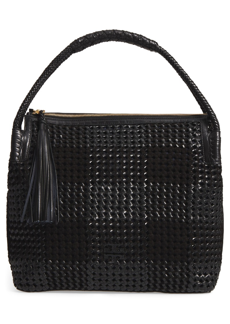 7071402cfb3f On Sale today! Tory Burch Tory Burch Taylor Woven Leather Hobo Bag