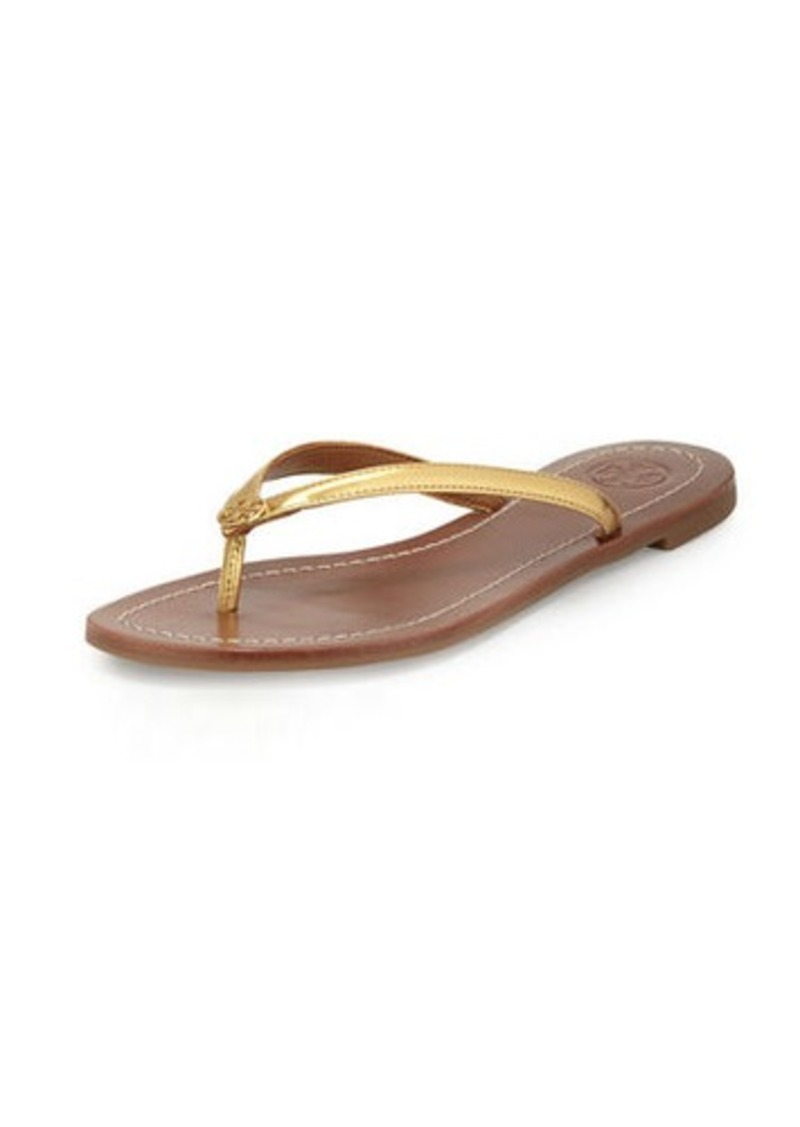 25b785643161 Tory Burch Tory Burch Terra Metallic Thong Sandal