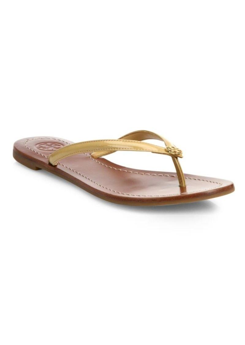 b53e5fe86c9c0e Tory Burch Tory Burch Terra Patent Leather Thong Sandals