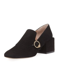 Tory Burch Tess Suede Block-Heel Loafer