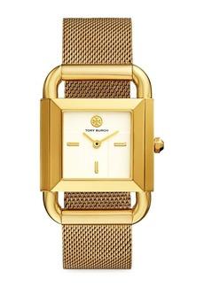 Tory Burch Phipps Goldtone Stainless Steel & Mesh Bracelet Watch