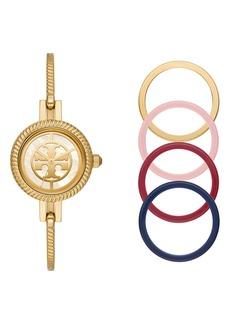 Tory Burch The Reva Bangle Bracelet Watch Gift Set, 27mm