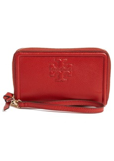 Tory Burch 'Thea' Leather Wristlet