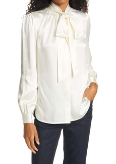 Tory Burch Tie Neck Silk Blouse