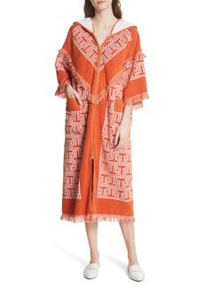 Tory Burch Tile T Terry Coat