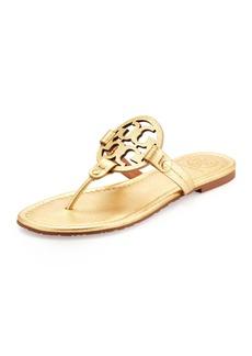 Tory Burch Tory Burch Miller Metallic Logo Thong Sandal
