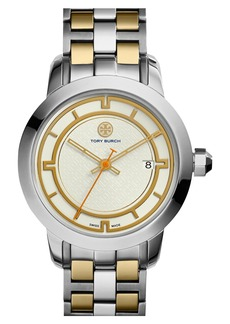 Tory Burch 'Tory' Large Round Bracelet Watch, 37mm