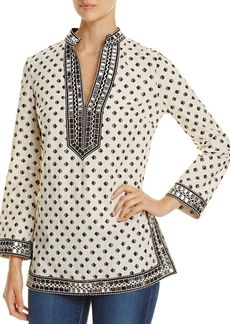 Tory Burch Tory Sequin-Embellished Printed Tunic