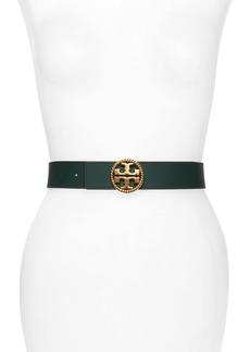 Tory Burch Twisted Logo Leather Belt