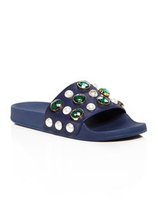 Tory Burch Vail Embellished Pool Slide Sandals