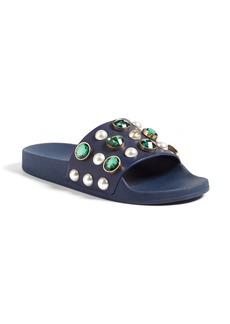 Tory Burch Vail Embellished Slide Sandal (Women)