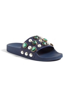 Tory Burch Vail Embellished Slide Sandal (Women)