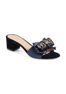 Tory Burch Valentina Embellished Bow Slide Sandal (Women)