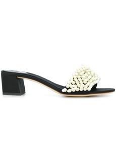 Tory Burch Valentina pearl slide sandals - Black