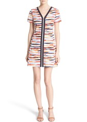 Tory Burch 'Vienna' Print Jersey Zip Front Fit & Flare Dress