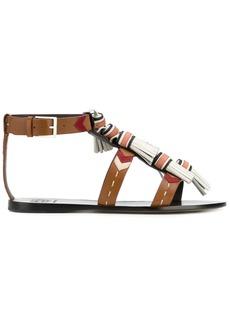 Tory Burch weaver tassel sandals - Brown