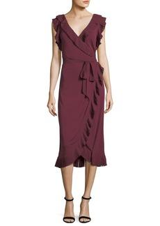 Tory Burch Whitney Ruffled Jersey Wrap Dress