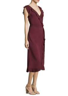 Tory Burch Whitney Midi Wrap Dress