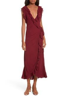 Tory Burch Whitney Wrap Midi Dress