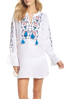 Tory Burch Wildflower Embroidered Cover-Up Tunic