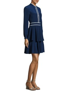 Tory Burch Winston Tiered Silk Dress