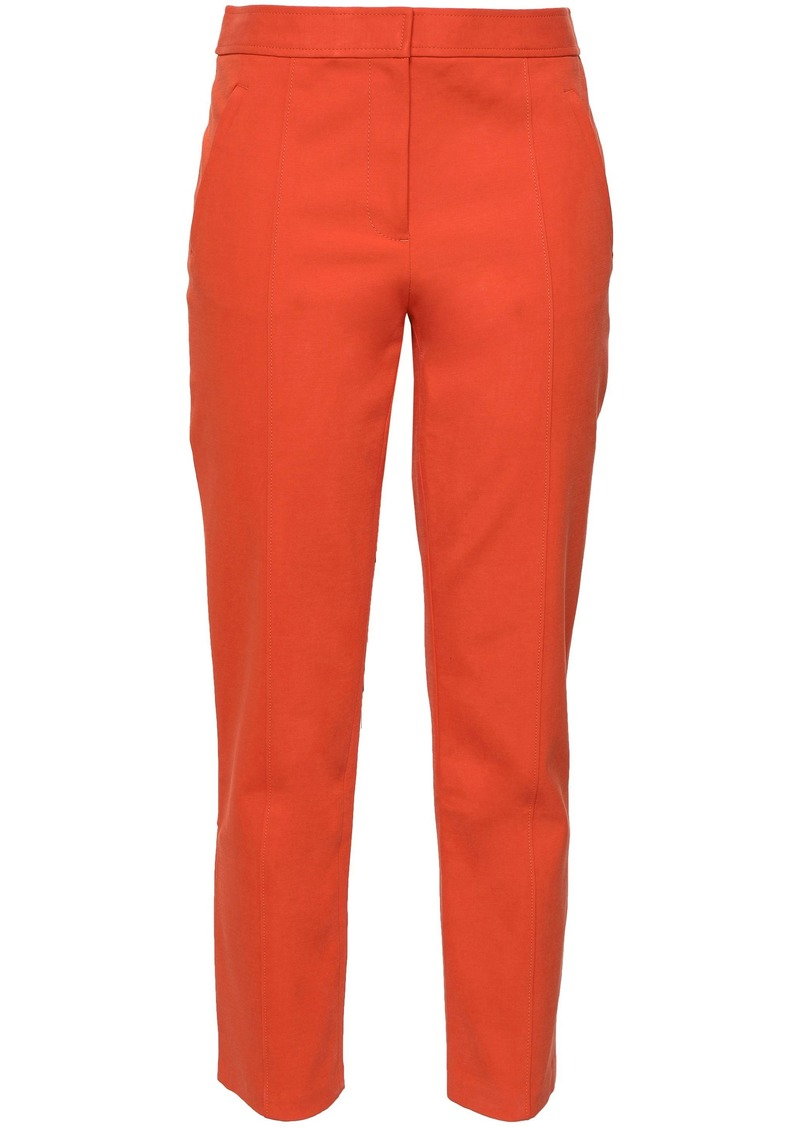 Tory Burch Woman Cotton-blend Tapered Pants Coral
