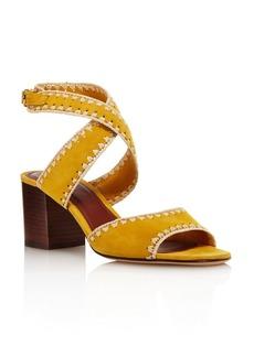 Tory Burch Women's Arianne Suede Block Heel Sandals - 100% Exclusive