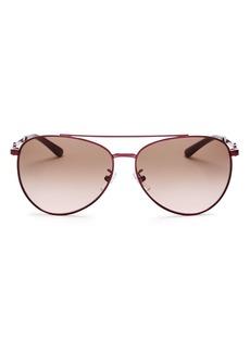 Tory Burch Women's Brow Bar Aviator Sunglasses, 58mm