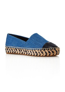 Tory Burch Women's Denim Platform Espadrilles