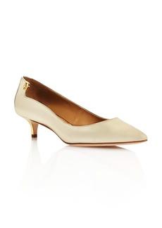 Tory Burch Women's Elizabeth Patent Leather Kitten Heel Pumps