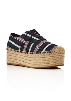 Tory Burch Women's Florence Striped Espadrille Platform Sneakers