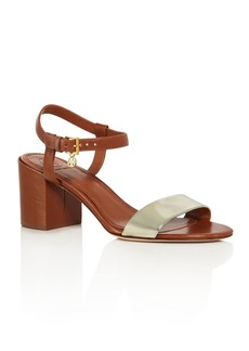 Tory Burch Women's Laurel Leather Block Heel Sandals