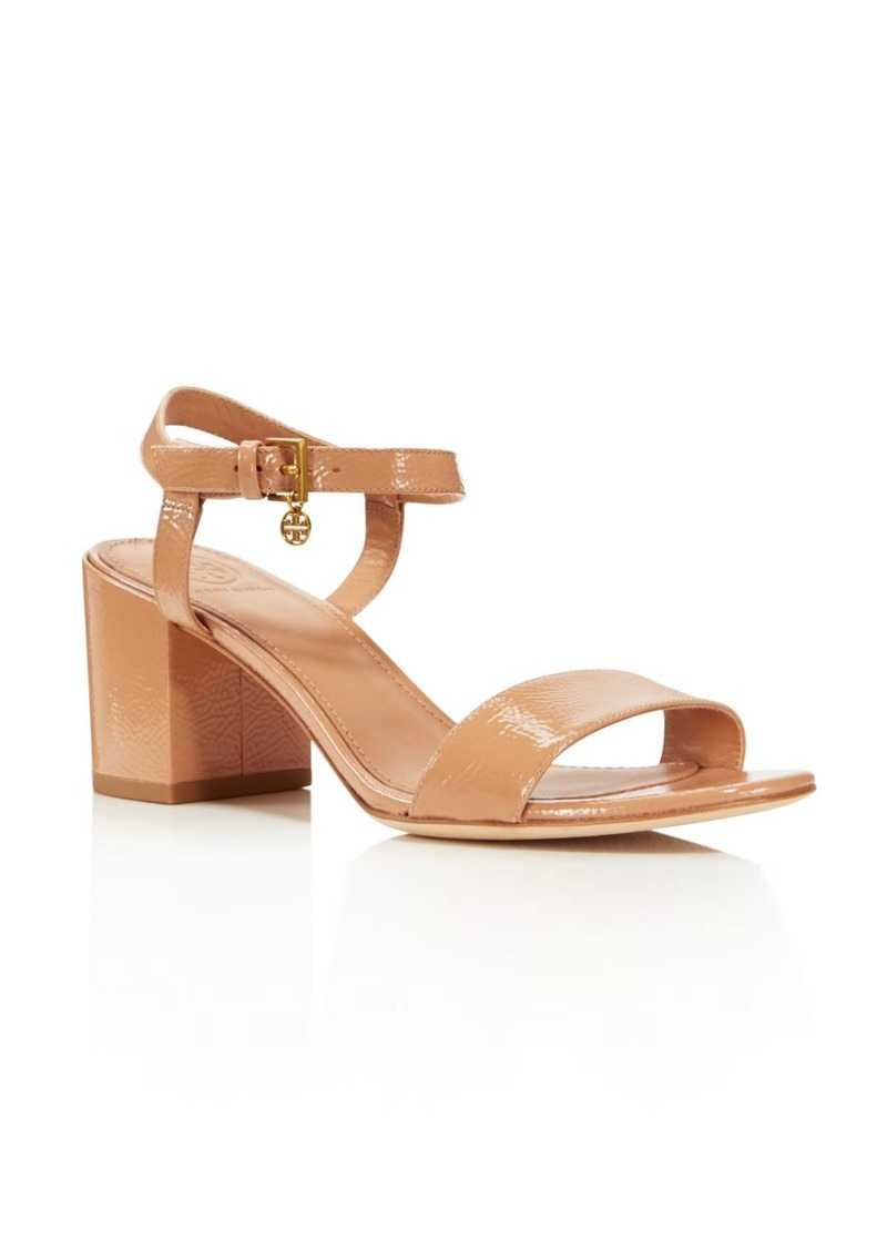 a4cafaca994b05 Tory Burch Women s Laurel Patent Leather Ankle Strap Sandals - 100%  Exclusive
